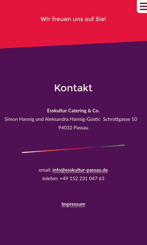 Esskultur Contact - Mobile